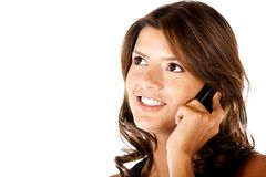 Female on the phone Stock Photo