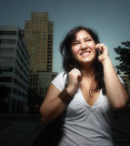 Female on the phone Royalty Free Stock Photography