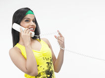 Female on the phone Stock Photo