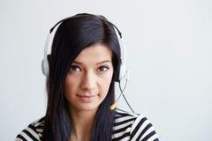 Female phone operator with headset Stock Photos