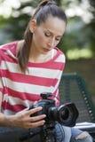 Female Photographer Stock Photo