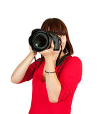 Female photographer Stock Image