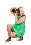 Female photographer Royalty Free Stock Image