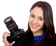 Female photographer Stock Photography