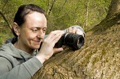 Female photographer Stock Images