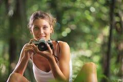 Female photographer Stock Photography