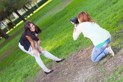 Female Photographer Royalty Free Stock Photography
