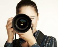 Free Female Photographer Royalty Free Stock Image - 32347486