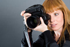 Female photographer Royalty Free Stock Photography