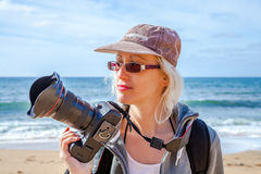 Woman Photographer Stock Photography