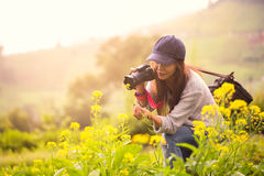 Female photographer Royalty Free Stock Image