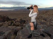 Female Photographer Royalty Free Stock Images