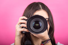Female Photographer Portrait Royalty Free Stock Images