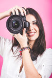 Female Photographer Portrait Royalty Free Stock Photos