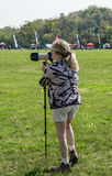 A Female Photographer Stock Image