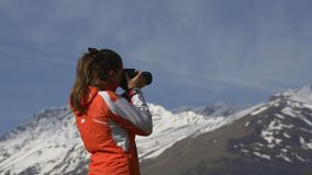 Female photographer stock footage
