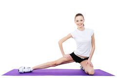 Female physical exercises Stock Image