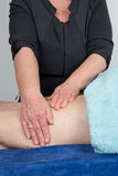 Female physical therapist at work in her office Royalty Free Stock Photography