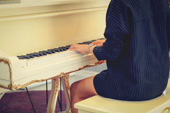Female pianist Royalty Free Stock Images