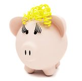 Female piggybank isolated Royalty Free Stock Photo