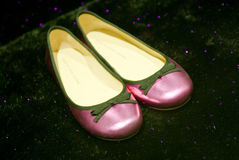 Female pink shoes Royalty Free Stock Photography