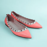 Female pink shoes Stock Images
