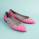 Female pink shoes Stock Photo