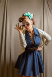 Female in pinup clothing Royalty Free Stock Image