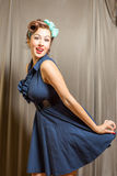 Female in pinup clothing Stock Photography