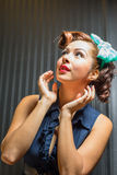Female pinup style bombshell expressions Stock Photography