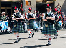 Female pipe band Royalty Free Stock Images