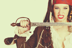 Female Pirate Costume Royalty Free Stock Image