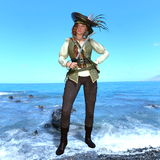 Female pirates Royalty Free Stock Images