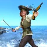 Female pirates Stock Image