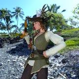 Female pirates Stock Photography