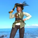 Female pirates Stock Images