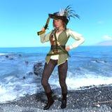 Female pirates Royalty Free Stock Image