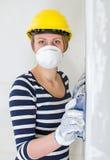 Female plasterer Stock Images