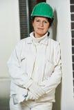 Female plasterer portrait Stock Photography