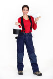 Female plasterer Stock Photos