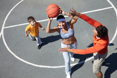 Female player Stock Photography