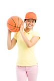 Female player Royalty Free Stock Photo
