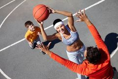 Female player Royalty Free Stock Image