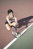 female player tennis Στοκ Φωτογραφίες