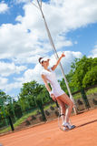 Female playing tennis Royalty Free Stock Image