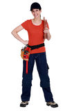 Female plumber Stock Photography