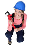 Female plumber Stock Photos