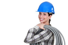 Female plumber Stock Images