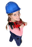 Female plumber Royalty Free Stock Image