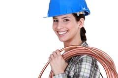 Female plumber Royalty Free Stock Photo